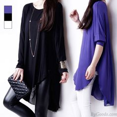 Feder Chiffon Bluse lose Langärmelige T-Shirt only $25.99 in ByGoods.com!