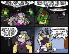 Shredder's revenge…