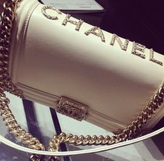 What else could you ask for other than a white embellished Boy Chanel bag!!!! #perfect #summer.