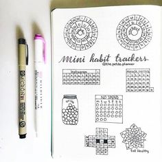 What a perfect collection of mini #habittracker from @the.petite.planner. #Repost @the.petite.planner Mini Habit Trackers . . . #bulletjournal #bulletjournaljunkies #bulletjournalcommunity #bujo #bujojunkies #planner #planneraddict #planning