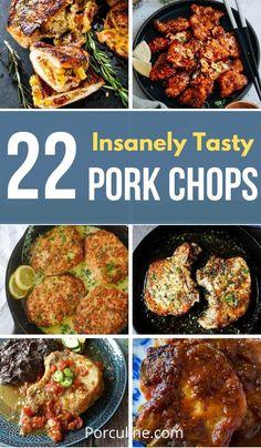 Quick Pork Chop Recipes, Best Pork Chop Recipe, Pork Sausage Recipes, Pork Recipes For Dinner, Italian Pasta Recipes, Delicious Dinner Recipes, Meat Recipes, Cooking Recipes, Kitchens