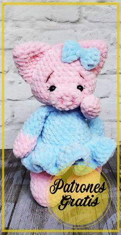 Crochet Pig, Crochet Amigurumi Free Patterns, Crochet Baby Clothes, Modern Crochet, Crochet Squares, Amigurumi Doll, Stuffed Toys Patterns, Baby Toys, Diy Crafts