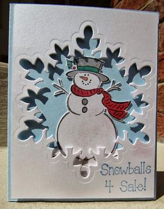 Made by using the large snowflake die, part of The Festive Flurry set from Stampin' Up!