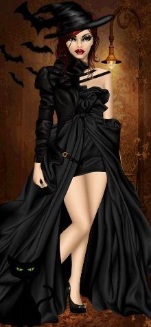 Dress Up Games | Diva Chix: The Fashionista's Playground #dressupgames #halloween #witch #dark