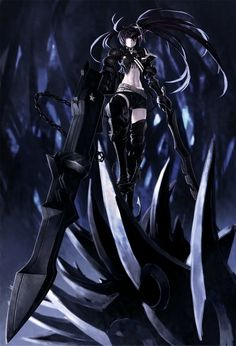 Black★Rock Shooter, Insane Black★Rock Shooter, ★rock Cannon, Arm Cannon by blackrckshooter