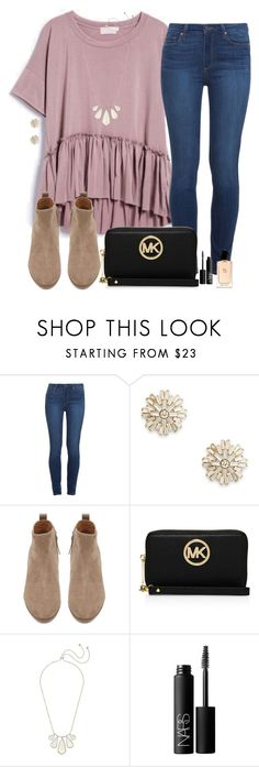 """currently designing my schools yearbook wbu?"" by madiweeksss ❤ liked on Polyvore featuring Paige Denim, Sole Society, Witchery, MICHAEL Michael Kors, Kendra Scott, NARS Cosmetics and Giorgio Armani"