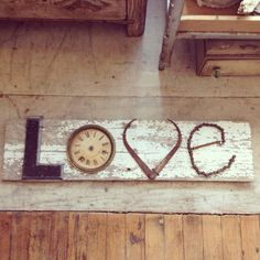 LOVE this salvaged sign