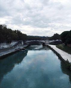 The Tiber  From Tiber Island  // #Rome #Whatitalyis #VSCO