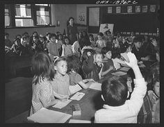 Questa, Taos County, New Mexico. The first grade