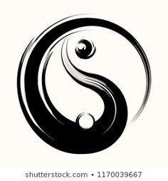 Arte Yin Yang, Ying Y Yang, Yin Yang Art, Yin Yang Tattoos, Symbole Ying Yang, Mini Tattoos, Tattoos For Guys, Ojo Tattoo, Tattoos