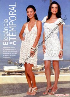 Two gorgeous crochet dress patterns