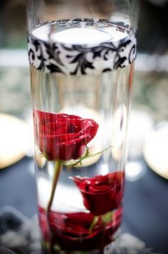 silver navy and red rose wedding centerpieces diy - Google Search--- could use gold instead of silver