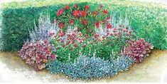 Украшаем дачный участок своими руками: готовые схемы красивых цветников и клумб.