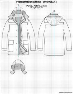 Mens Illustrator Flat Fashion Sketch Templates - Presentation Sketches Outerwear - 1045+ mix & match Menswear design templates only $39.95! #menswear #mensfashion #flatsketches #fashionflats #fashionsketches #fashiontemplates #fashionCADs #fashionpresentation