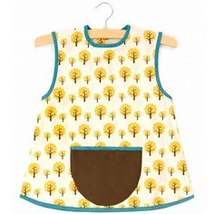 Kids Organic Cotton Apron in Choice of Size
