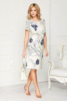 Rochii office de vară la modă în 2020 - Rochii office în vogă vara acesta Cold Shoulder Dress, Floral, Casual, Bb, Dresses, Fashion, Vestidos, Moda, Fashion Styles