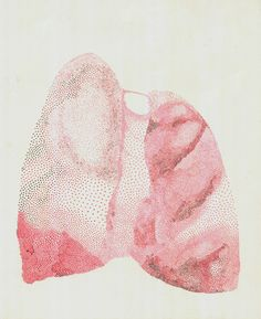 "Saatchi Art Artist Ana Markovic; Drawing, ""Small Pink Lungs"" #art"