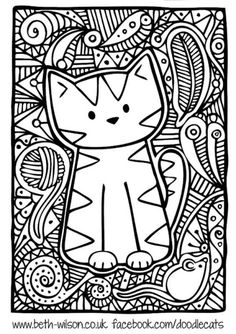 Cute Cat Coloring Page Cute Cat Coloring Page. Cute Cat Coloring Page. Cute Coloring Pages Cats in cat coloring page Master pieces Coloring pages for adults coloring leonard Animal Coloring Pages, Cute Coloring Pages, Drawings, Cat Art, Doodles, Color