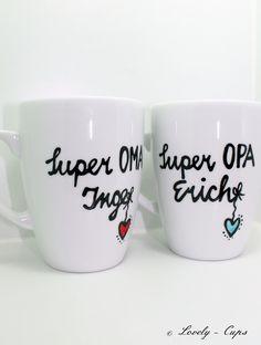 Personalisiertes Geschenk, die Tassen mit Namen für OMA und Opa♥  Du willst es deinem Papa/Opa und deiner Mama/Oma nicht einfach so sagen, sondern auf eine nette,besondere liebevolle Art...