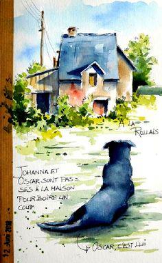 Watercolor Journal, Watercolor Drawing, Art Journal Inspiration, Painting Inspiration, Artist Journal, Watercolor Techniques, Art Sketches, Landscape Paintings, Book Art