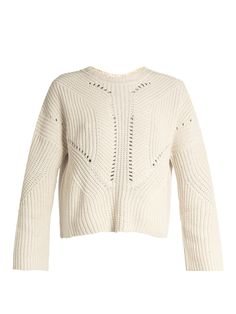 Click here to buy Isabel Marant Grifin lace-up back cotton-blend sweater at MATCHESFASHION.COM