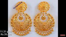 Gold Ring Designs, Gold Bangles Design, Gold Jewellery Design, Jewelry Design Earrings, Gold Earrings Designs, Golden Jewelry, Luxury Jewelry, Jewerly, Wedding