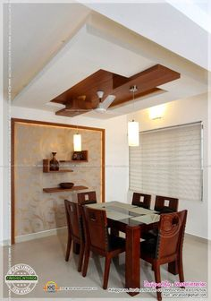 Dining Room Ceiling Design, Wooden Ceiling Design, House Ceiling Design, Bedroom False Ceiling Design, Wooden Ceilings, Home Ceiling, House Design, False Ceiling Ideas, Ceiling Lights