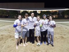 The Delt volleyball team after winning the championship game against Sig Tau.