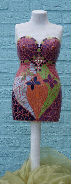 mosaic torso by Anja Berker