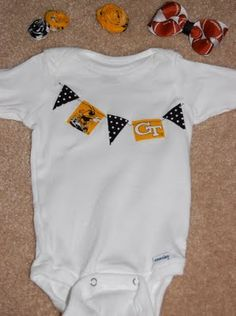 b45cd06c998 Georgia Tech Infant Banner Onesie paisley cate needs this! Yellow JacketsUh  ...