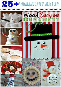 25+ Snowman Crafts and Ideas {Roundup}