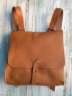 Leather Backpack / Messenger bag/ Convertible bag by proyect