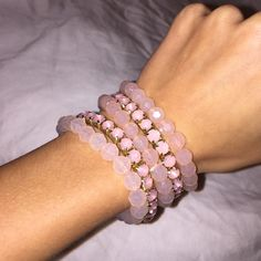fun bracelet set! really good condition, I've worn these once, stretchy Jewelry Bracelets