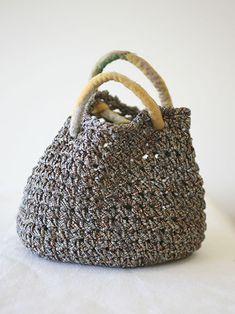 Tsumugi Silk Lunch Bag by Setsuko Torii | www.habutextiles.com