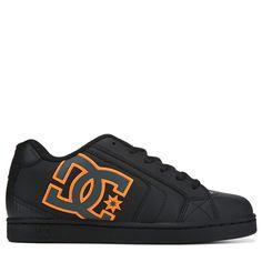 2b430d35e5c1 DC Shoes Men s Net Skate Shoes (Black Orange)