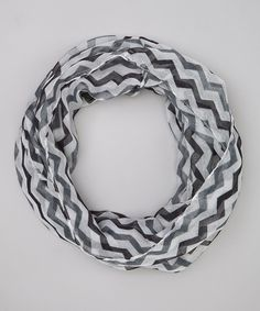 Loving this DM Merchandising Black & Gray Check It Out Chevron Infinity Scarf on #zulily! #zulilyfinds