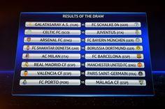 SORTEGGI CHAMPIONS    La Juventus pesca bene col Celtic; Milan supersfida col Barca!    Tra le altre Eurosfide c'è da segnalare Arsenal - Bayern Monaco, Shakhtar Donetsk - Borussia Dortmund e Real Madrid - Manchester United
