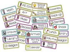 love how you can customize them to fit your classrooms schedule