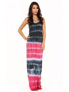 Ripple Tie Dye Maxi #Dress