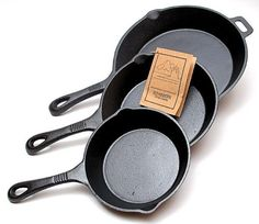 Handle a variety of cooking and kitchen needs while adding some rustic practicality to your farmhouse with this sturdy and durable cast iron 3-piece skillet set. This 3-piece cast iron skillet set fro
