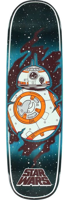 ba8df3d4cad4 Santa Cruz Skateboards Star Wars Episode VII BB8 Skateboard Deck