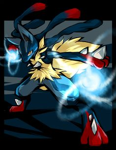 Lucario the Aura Pokémon Pokemon Rayquaza, Mega Lucario, Pikachu Art, Mega Pokemon, First Pokemon, Cool Pokemon, Play Pokemon, Cute Pokemon Pictures, Pokemon Images
