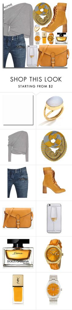 """yellow bag romwe contest"" by teto000 ❤ liked on Polyvore featuring Tom Ford, Balmain, Chloé, Dolce&Gabbana, Invicta and Yves Saint Laurent"