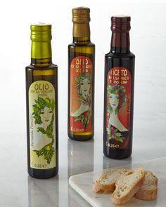 Fernando Pensato Art Nouveau-Inspired Italian Olive Oil & Balsamic Vinegar Set