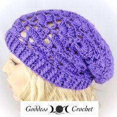 Crochet Pattern - The Carol Beanie Slouchy Hat