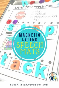 How I Use Magnetic Letters in Speech Therapy