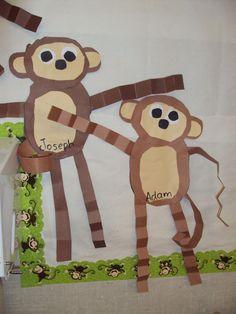 Monkeys for the 5 Little Monkeys theme #zoocrafts