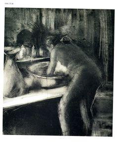 The Tub c 1885 Monotype 42 x54 cm from 'Dega by himself, Drawings, prints, paintings,writings Edited by Richard Kendall, MacDonald Orbis, London, 1987