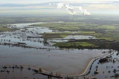 In pics: Aerial images show the devastation caused by floods across the north of England with particularly disastrous consequences in York and Leeds Aerial Images, Northern England, North Yorkshire, Image Shows, Rivers, Picture Show, Roads, Banks, Mountains
