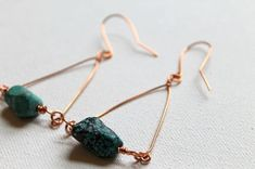 Wire Wrapped Triangle Earrings tutorial